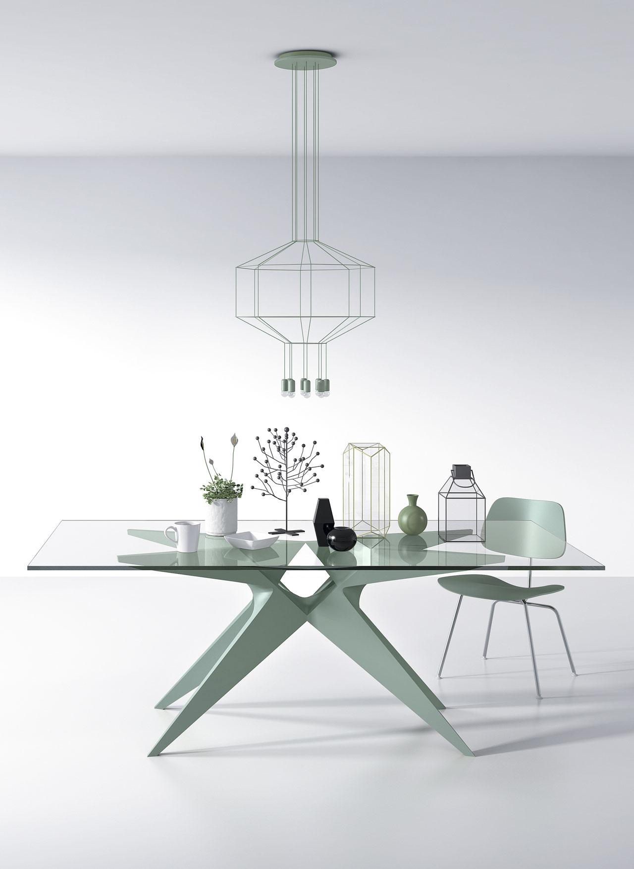 Modernūs valgomojo baldai stalas Okapi 3
