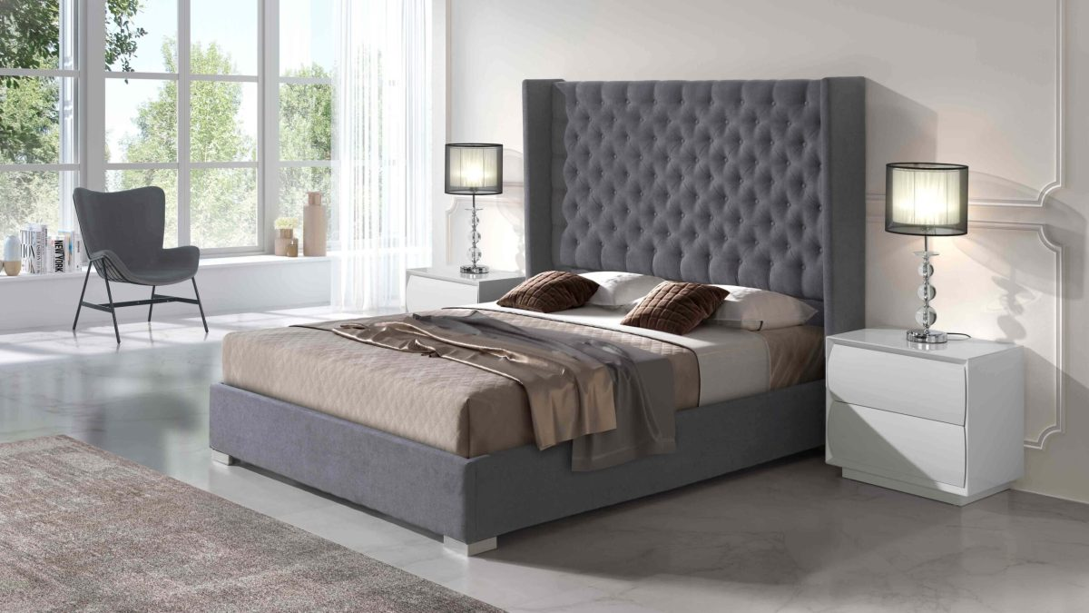 Modernūs miegamojo baldai Frida