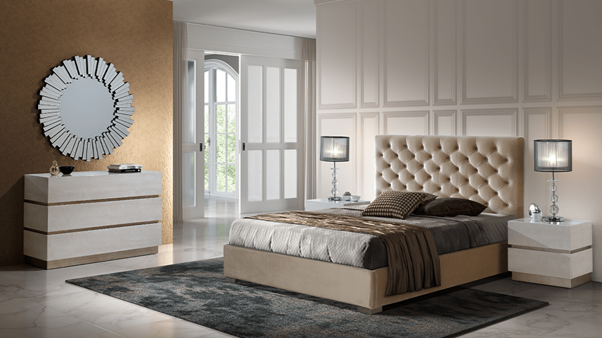 Modernūs miegamojo baldai Gala