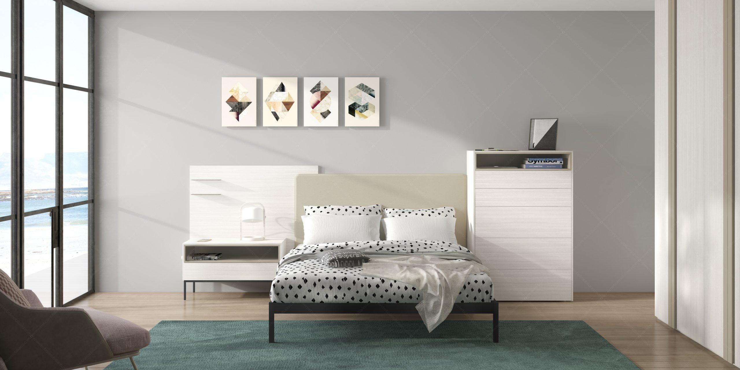 Modernūs miegamojo baldai Gen Z Matrimonio 01