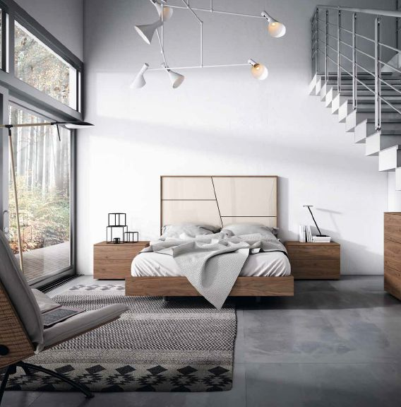 Modernūs miegamojo baldai Grafika Collage Corto 008.1