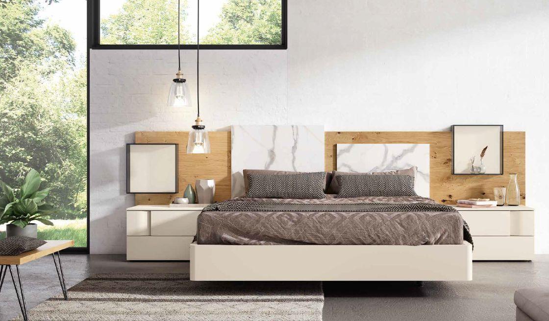 Modernūs miegamojo baldai Grafika Cubic 036