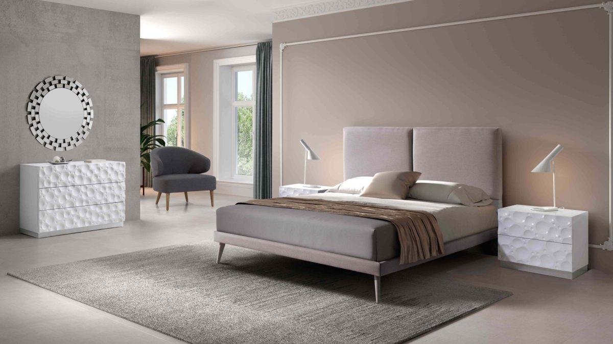 Modernūs miegamojo baldai Lara