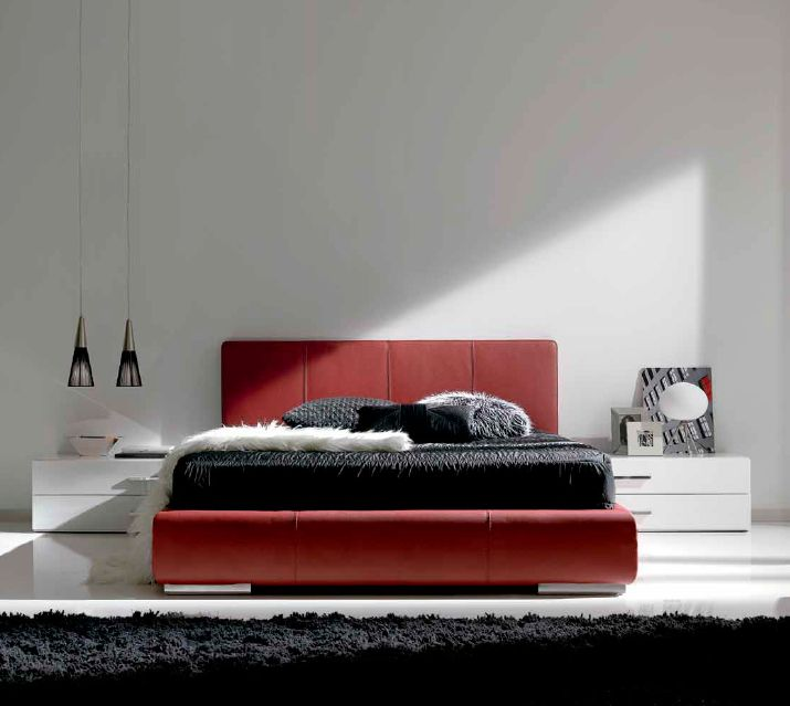 Modernūs miegamojo baldai Roma 2