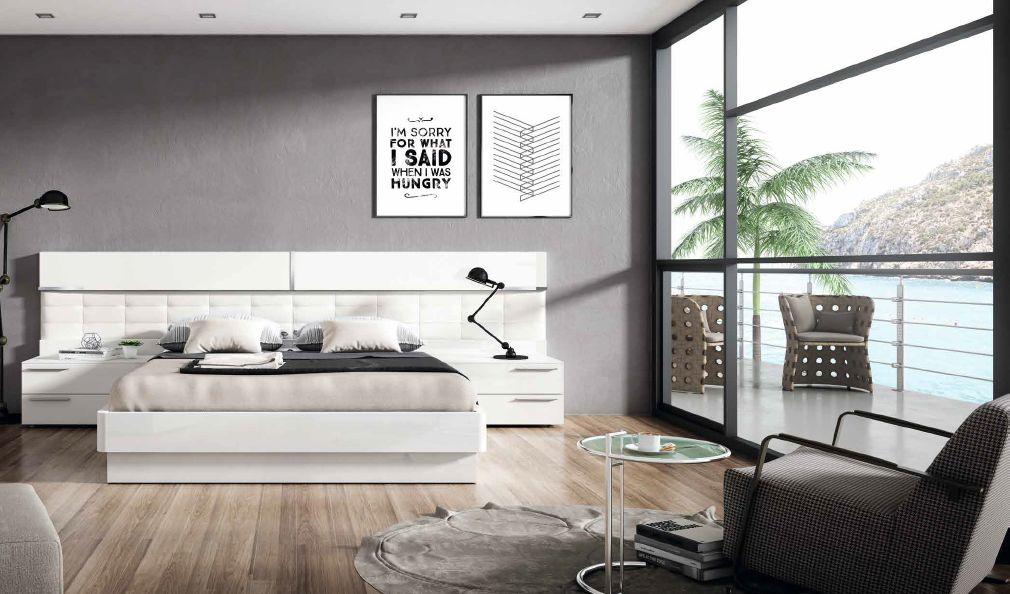 Modernūs miegamojo baldai Soft 029