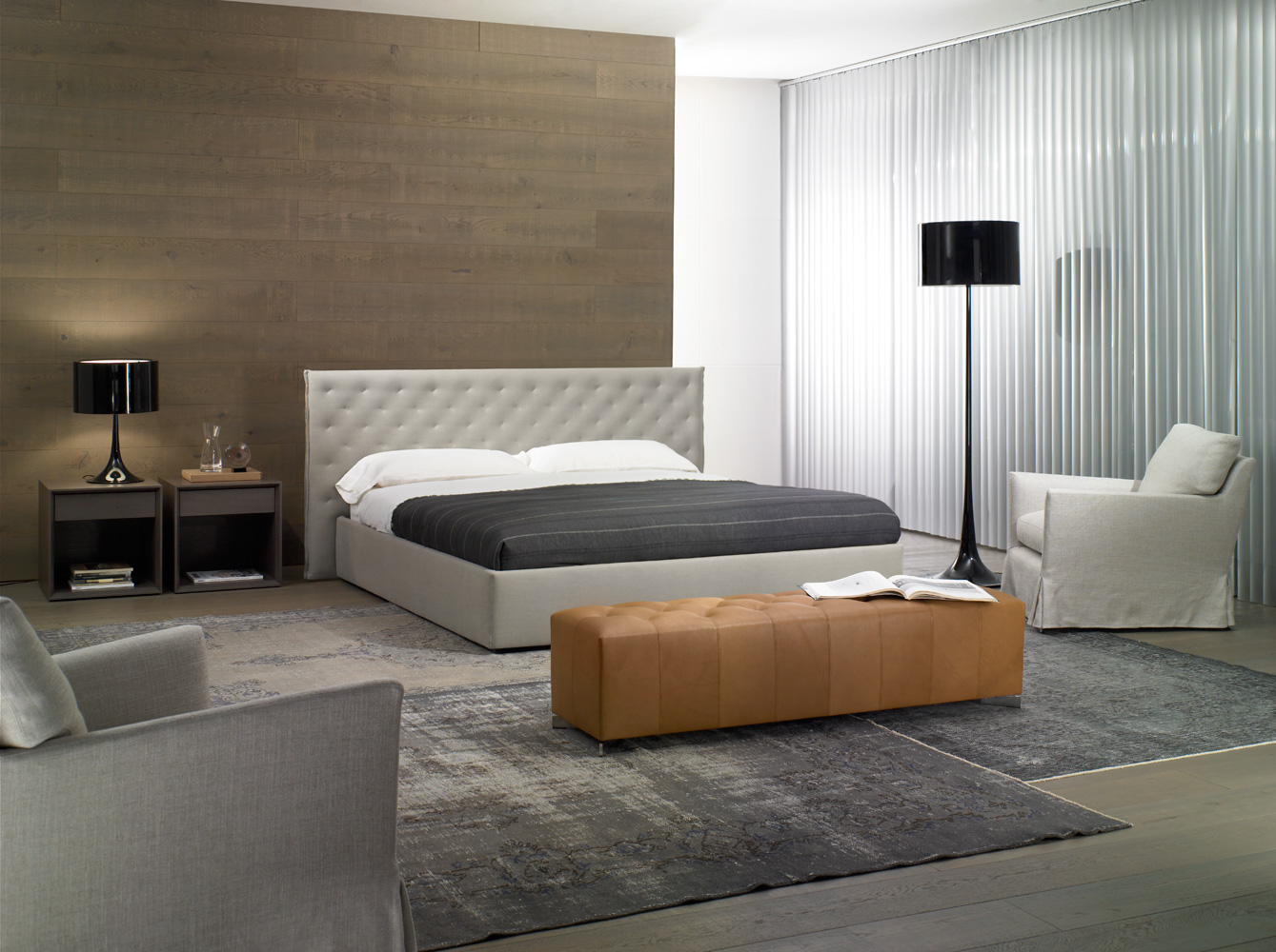 Modernūs miegamojo baldai Valeria