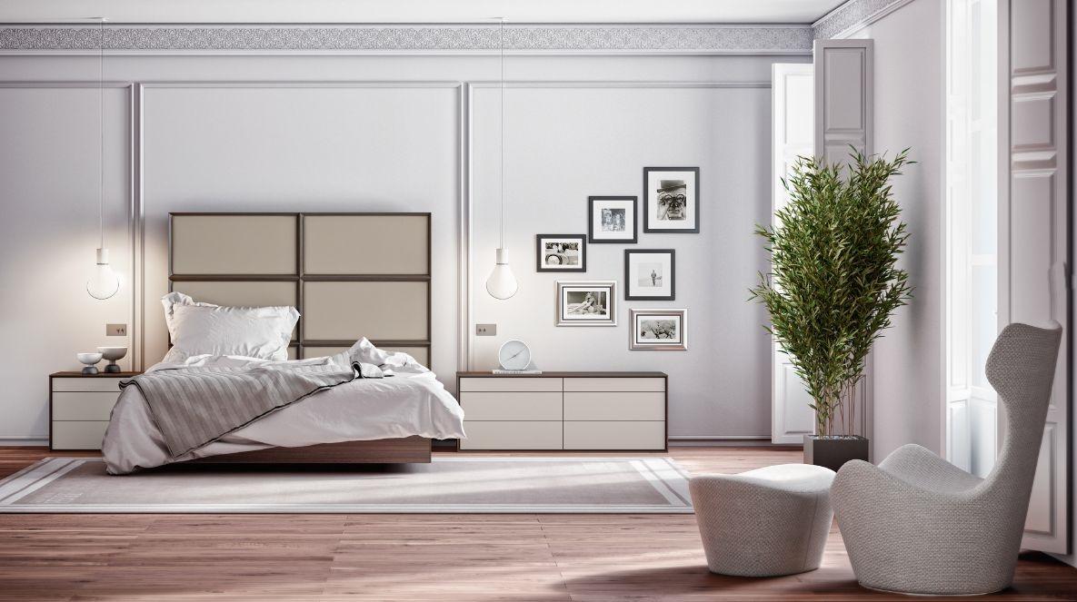 Modernūs miegamojo baldai comp. 01