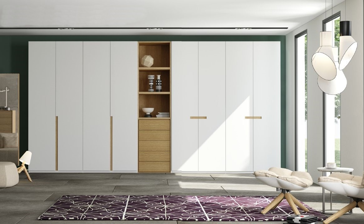 Modernūs miegamojo baldai spinta EFE 2