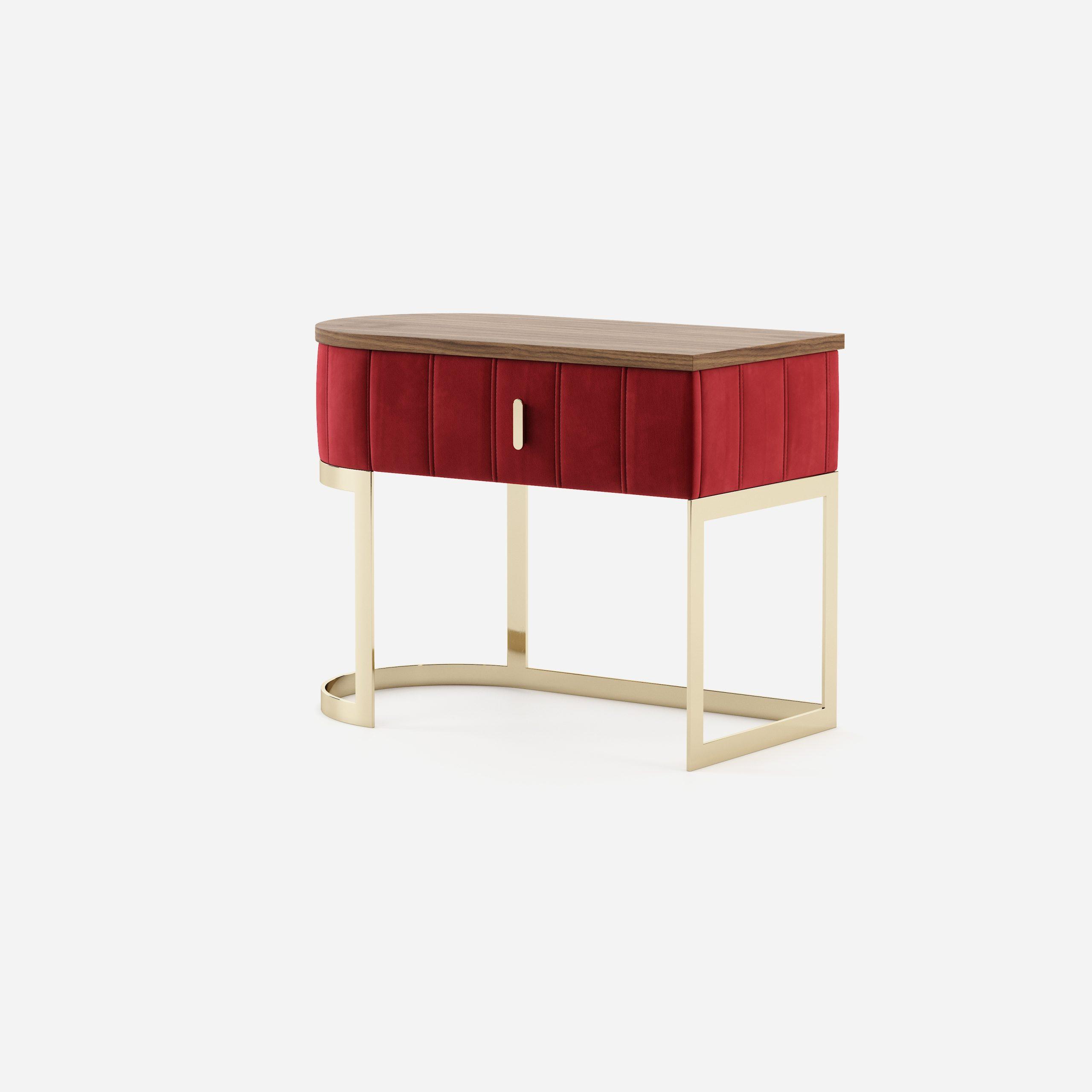 Modernūs miegamojo baldai spintelė Scarlet