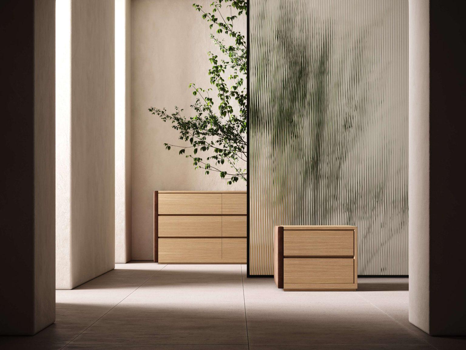 Modernūs miegamojo baldai spintelė Taylor 1