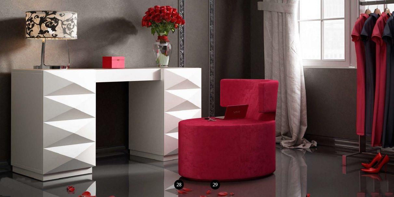 Modernūs miegamojo baldai kosmetikos staliukas Bella T07