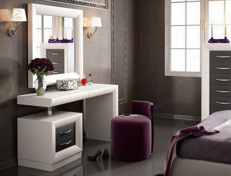 Modernūs miegamojo baldai kosmetikos staliukas Bella T10.2
