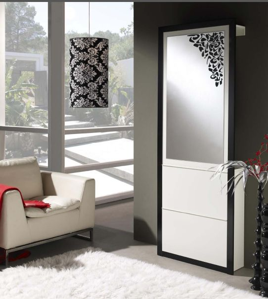 Modernūs prieškambario baldai batų komoda Cubic I1015