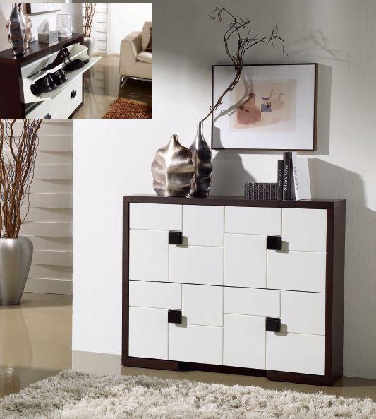 Modernūs prieškambario baldai batų komoda Cubic I1220