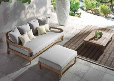 Klasikiniai lauko baldai sofa staliukas Jawy 5