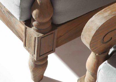 Klasikiniai lauko baldai sofa staliukas Jawy 7