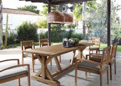 Klasikiniai lauko baldai valgomojo stalas kėdės Jawy 2