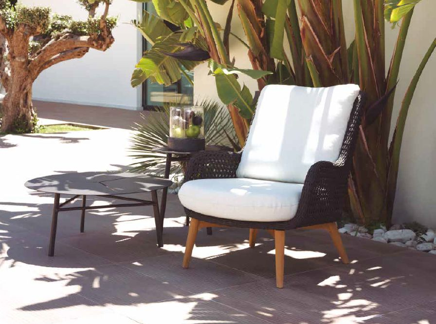 Modernios klasikos lauko baldai krėsliukas Barcelona