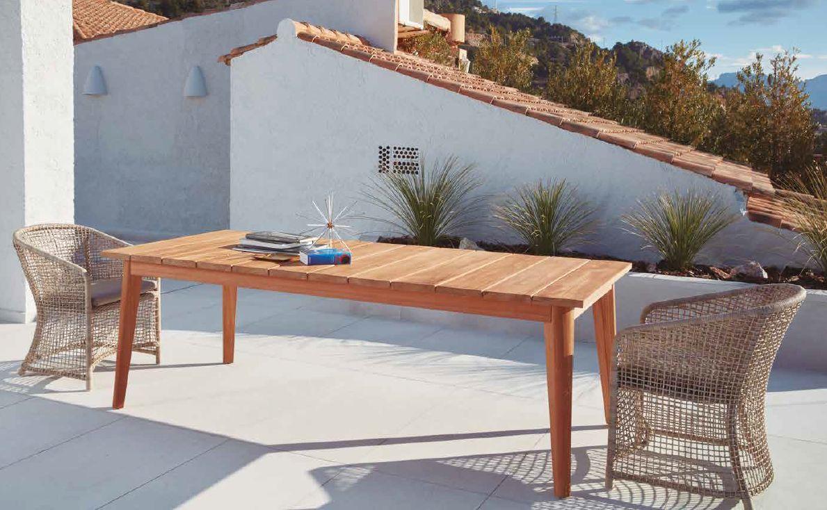 Modernios klasikos lauko baldai valgomojo stalas San Remo krėsliukas Hemelin