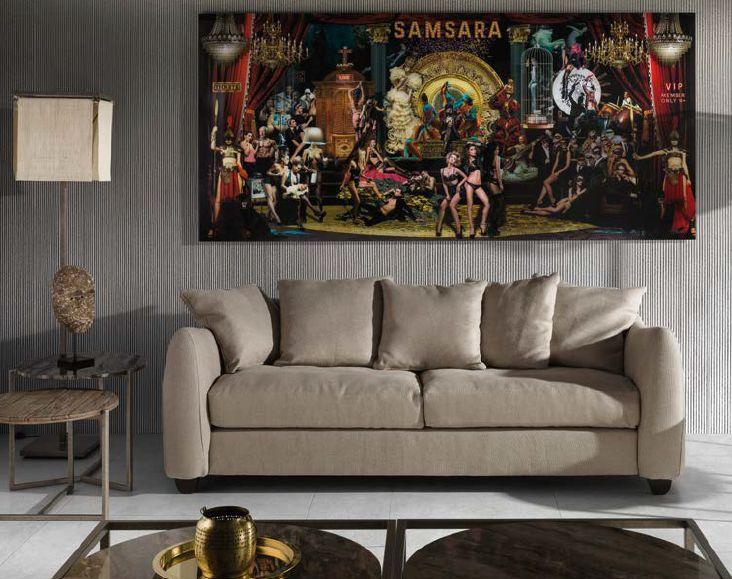 Modernios klasikos minkšti svetainės baldai sofa Icon