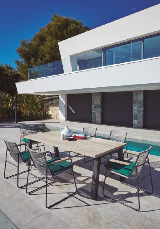Modernūs lauko balda stalas Diegoi krėsliukai Kuta 1