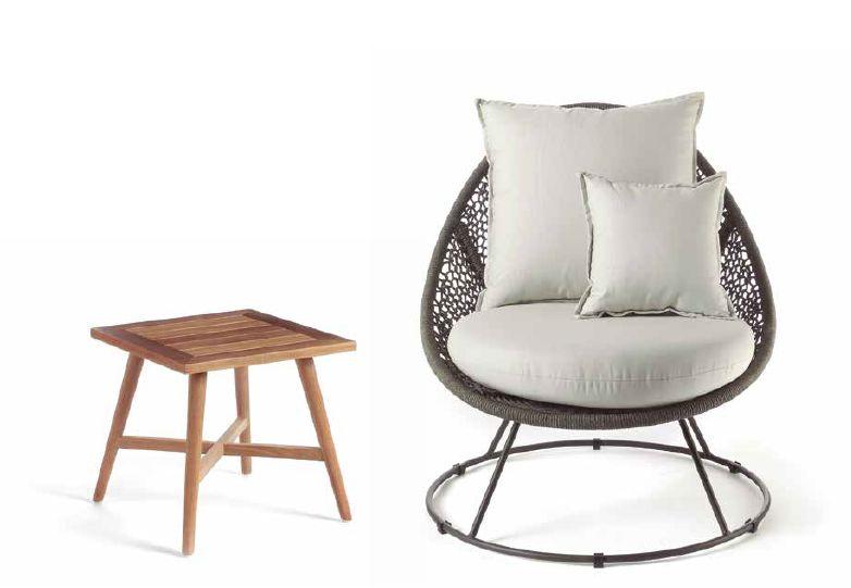Modernūs lauko baldai krėsliukas Palm