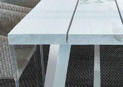 Modernūs lauko baldai krėsliukas stalas Ruselia 2