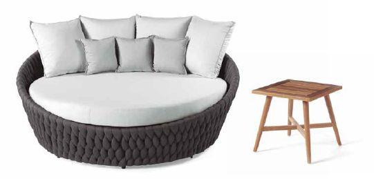 Modernūs lauko baldai lauko lova Bromo 5
