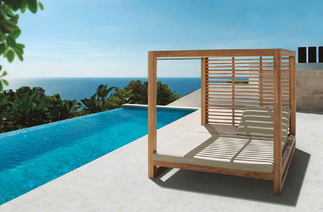 Modernūs lauko baldai lauko lova gultas Catalina