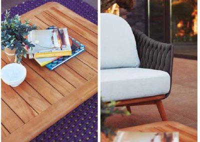 Modernūs lauko baldai sofa Bromo 1
