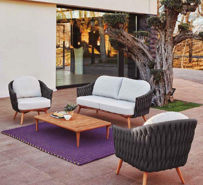 Modernūs lauko baldai sofa Bromo