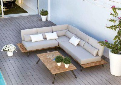 Modernūs lauko baldai sofa Calcuta 3