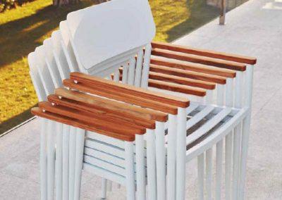 Modernūs lauko baldai stalas kėdės Domingo 3
