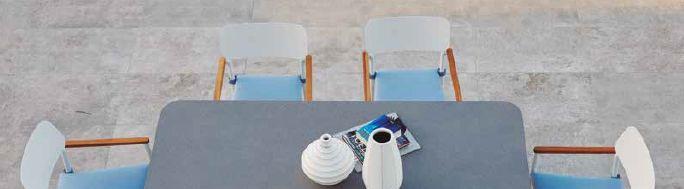 Modernūs lauko baldai stalas kėdės Domingo 4