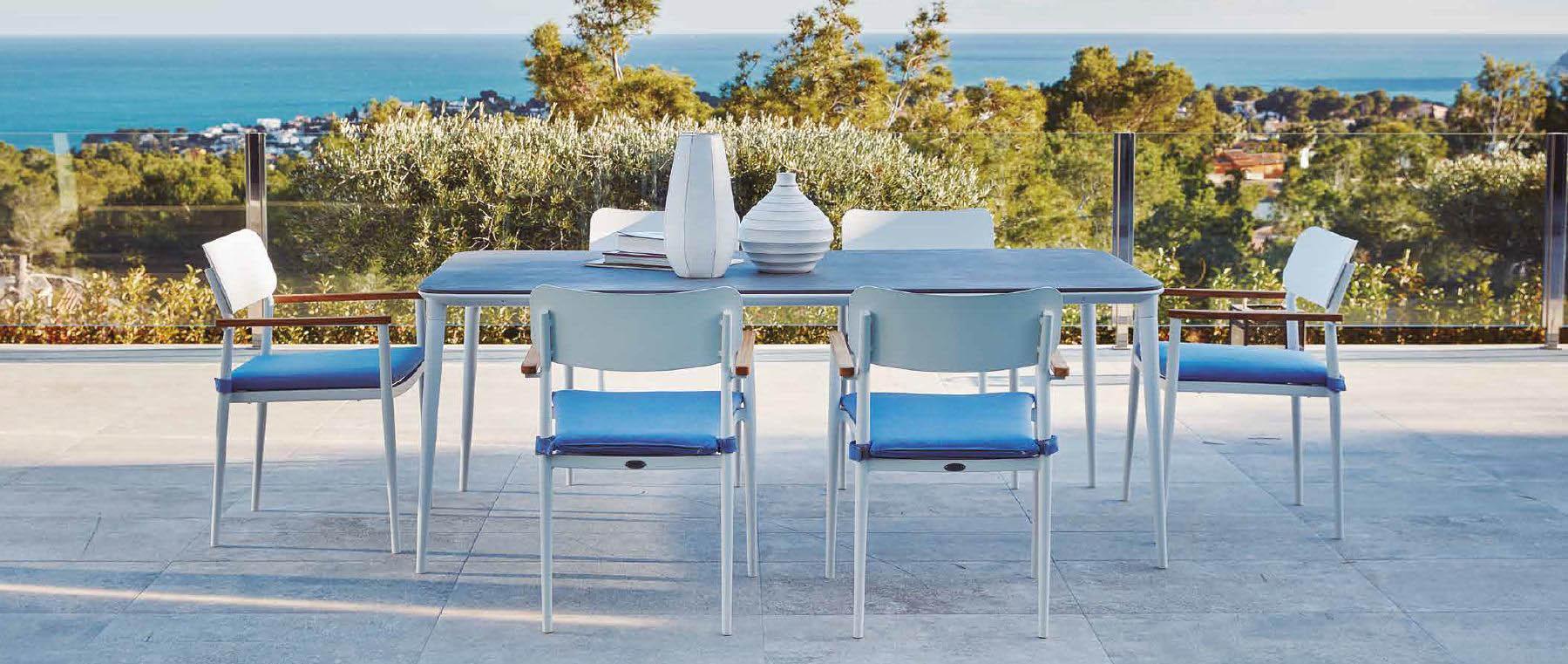 Modernūs lauko baldai stalas kėdės Domingo