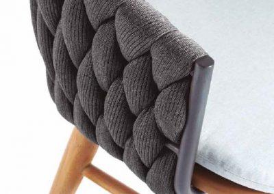 Modernūs lauko baldai stalas krėsliukai Bromo 6