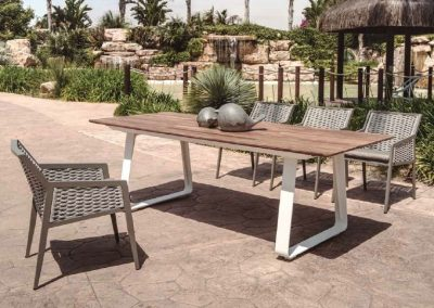 Modernūs lauko baldai stalas krėsliukai Ritz 1