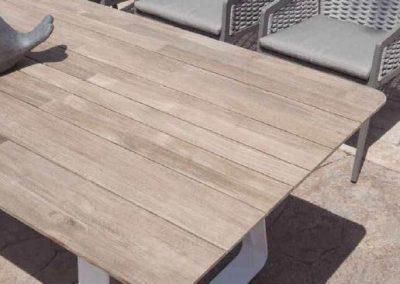 Modernūs lauko baldai stalas krėsliukai Ritz 2