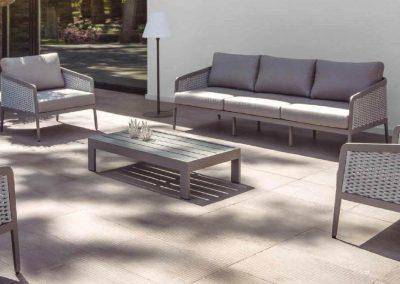 Modernūs lauko baldai stalas krėsliukai Ritz