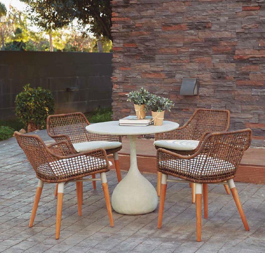 Modernūs lauko baldai staliukas krėsliukai Mercury