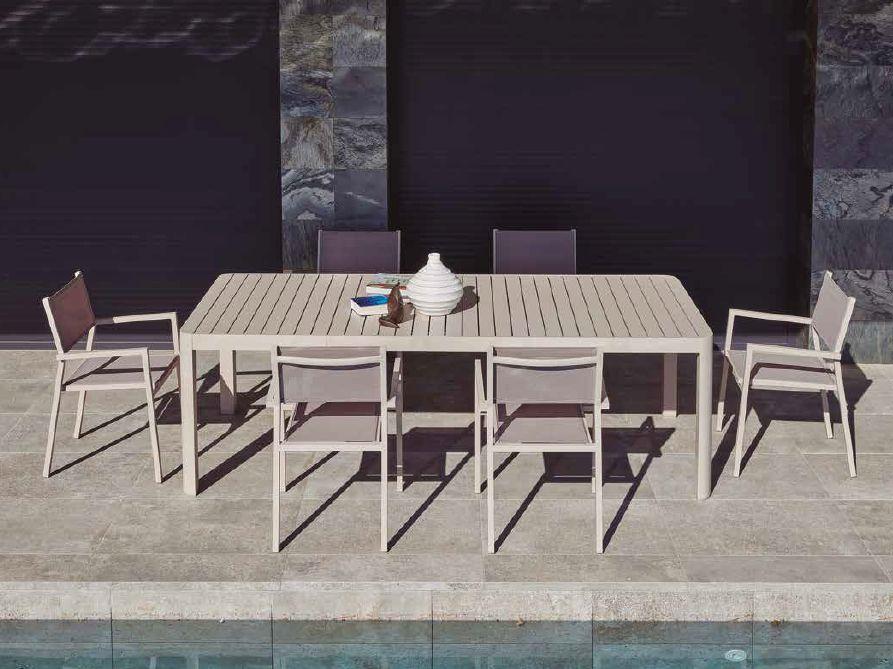 Modernūs lauko baldai valgomojo stalas kėdės Yola