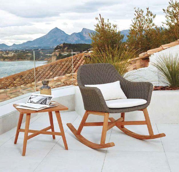 Modernūs lauko baldai valgomojo supamas krėsliukas San Remo 3