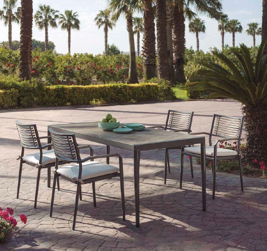 Modernūs lauko baldaivalgomojo stalas kėdės Tropic 2
