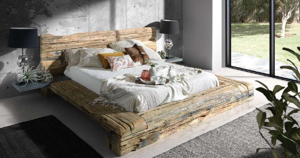 Modernūs miegamojo baldai lova Mediterranean