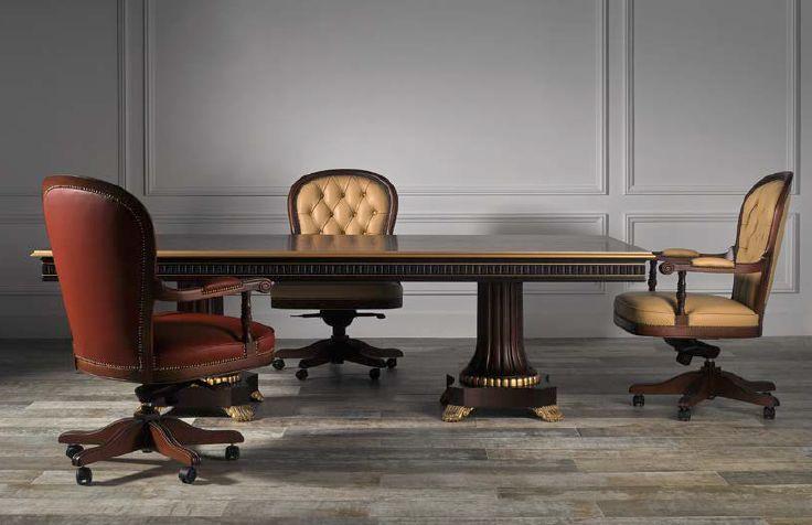 Klasikiniai darbo kambario baldai Sorbona