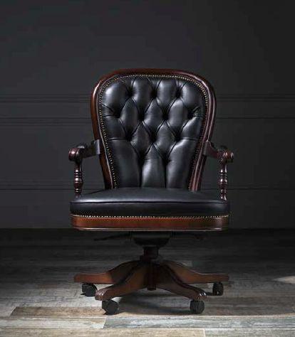 Klasikiniai darbo kambario baldai krėslas Sorbona 1