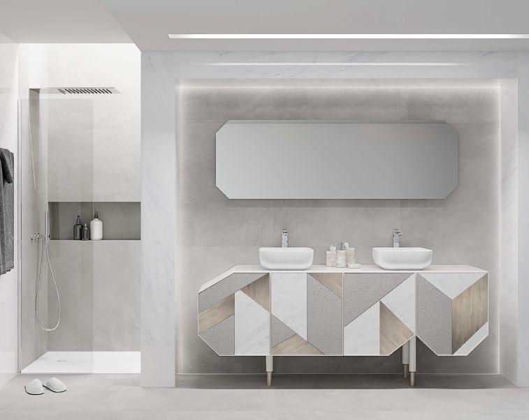 Modernūs vonios kambario baldai George 1