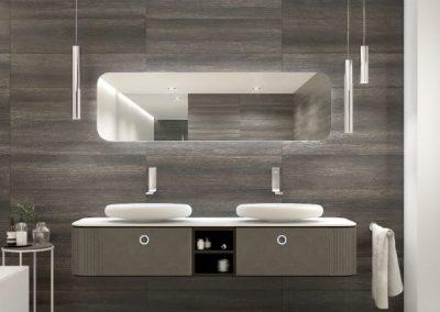 Modernūs vonios kambario baldai Tubular 2