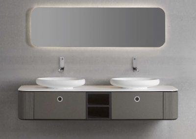 Modernūs vonios kambario baldai Tubular