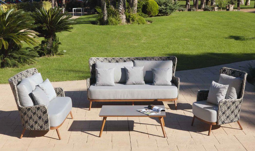 Modernios klasikos lauko baldai sofa krėsliukai staliukas Florencia